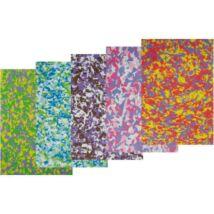DEKORGUMI A4 2mm színes mintás