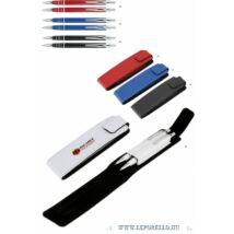 GTOLL szett MP YOGI fém gtoll+ny.iron egyszínű 6 csíkos+mőbőr tolltok
