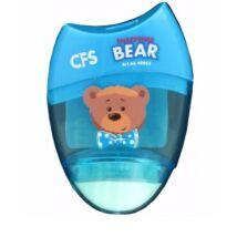 HEGYEZŐ 1lyukú+radír CFS Bear CF40663