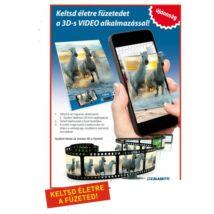 FÜZET A5 BLASETTI 3D video letöltős kockás  mintás 42l 80gr.