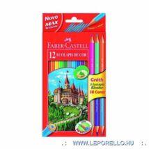 SZINESCERUZA 12+3*2 FABER Castell BICOLOR+hegyezö 120112+3
