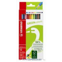 SZINESCERUZA 12 STABILO GREEN 6019