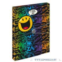 FÜZETBOX A4 HERLITZ PP  Smiley vastag 4cm**