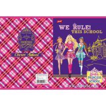 FÜZET A5 UNIPAP 3.oszt. 32lap  glitter Barbie**