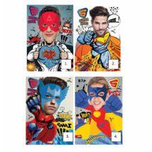 FÜZET A4 Mar-Mar 60+2lap Superheroes PP #,=** (kockás, 203-0067)