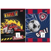 FÜZET A5 UNIPAP 2.oszt.16-32lap Frozen,Minion,Best Time,Friends,Goal and Fire (Goal and Fire, UNGF532V2)