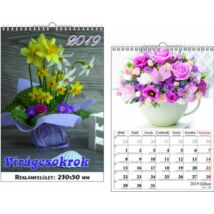 Falinaptár 2019 Virágcsokrok T-Calendar 23*33