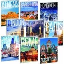 FÜZET A4 ARS UNA kockás extra kapcsos 87-40 Cities (Cities of the world, A16065ACW932)