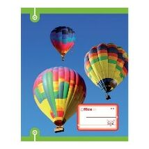 FÜZET A4  Hőlégballon OFFICE21 mintás sima    80-32