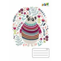 FÜZET A5  COOL by Victoria  mintás kockás 27-32  32lap (Cute Bears, ISVFC10)