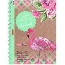 FÜZET spirál A4 BRUNNEN vonalas 80lap Flamingó
