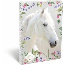 FÜZET spirál A4 LIZZY kockás 70l Wild Beauty White