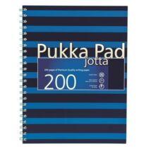 FÜZET spirál A4+ PUKKA PAD Navy Jotta # 200old. karton (kék, PUPJ6675K)