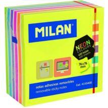 NOTESZ ÖNTAPADÓS 76*76mm  MILAN 400lap neon mix 4155400