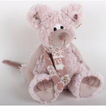 PLÜSS EGÉR rózsaszín, kötött sállal