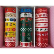 RAGASZTÓSZALAG karácsonyi/vegyes minták 15mm*10m CRE ART