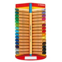 ROSTIRON tűfilc Stabilo Point 88  vegyes szinek (neon kék, TST88031)