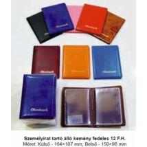 SZEMÉLYIRAT TARTÓ Okmányok álló 12 férőhelyes PVC