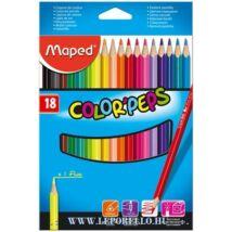 SZÍNESCERUZA 18 MAPED ColorPeps trió+/1neon/