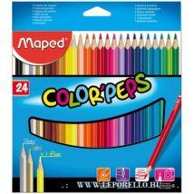 SZÍNESCERUZA 24 MAPED ColorPeps trió+/1ar+1ez+1neon/