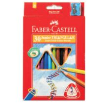 SZINESCERUZA 30 FABER Castell Junior trió+hegyező 116531