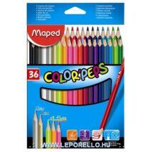 SZÍNESCERUZA 36+5 MAPED ColorPeps trió / 3neon+1arany+1ezüst szin/