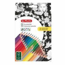 SZÍNESCERUZA 36 HERLITZ Trio felnőtt színezőhöz