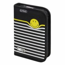 TOLLTARTÓ klapnis HERLITZ SMILEY8 üres (Smiley B&Y Stripes, 50015405)