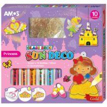 ÜVEGMATRICA festékkészlet AMOS Princess 10*10,5ml+12db fényvarázaforma