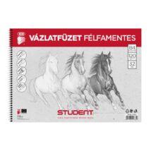 VÁZLATFÜZET B4-32lap félfamentes Student