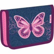 TOLLTARTÓ klapnis2 BELMIL18 335-74  szövet pufi minta 14*20,5*3,5cm Purple Flying Butterfly