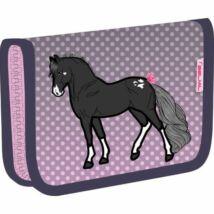 TOLLTARTÓ klapnis2 BELMIL18 335-74  szövet pufi minta 14*20,5*3,5cm Black Horse