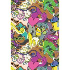 FÜZET A4  SB Graffity kockás 87-32  Girl/Boy **