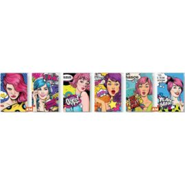 FÜZET A4 Mar-Mar 40+2lap Girls négyzetrácsos, vonalas matt+glitter