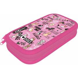 TOLLTARTÓ 2 emeletes LIZZY textil We Love Dogs Pink