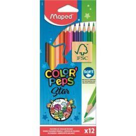 "*16262 SZINESCERUZA 12 MAPED ""Color'Peps"" háromszögű"