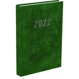 *33131 HATÁRIDŐNAPLÓ 2022 A5 napi T-Calendar Baladek Casina Balacron zöld