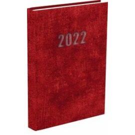 *33132 HATÁRIDŐNAPLÓ 2022 A5 napi T-Calendar Baladek Casina Balacron piros