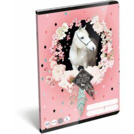 *35285 FÜZET A5  LIZZY21 vonalas 2.oszt. 16-32  Wild Beauty Rose