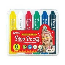 *39977 ARCFESTÉK 6szín AMOS ceruzaforma tekerhető műa. dobozos