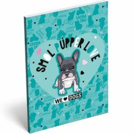 *40309 NOTESZ A7 papírfedelű LIZZY We Love Dogs Blue21