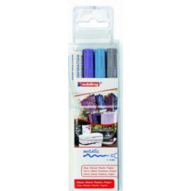 MARKER EDDING 751 készlet 3-as lakkfilc+inspiráció (ezüst/v.kék/lila, 7580097021)