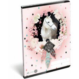 *42992 FÜZET A5 LIZZY21 kockás 27-32 Wild Beauty Rose