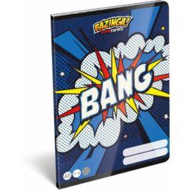 *45856 FÜZET A5 LIZZY21 kockás 27-32 Supercomics Bazinga