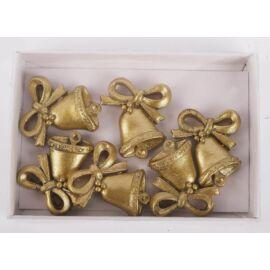 *46469 CSENGŐ kerámia  arany, ezüst 2,5cm