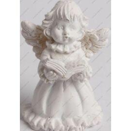 *48430 KAR. DEKOR kerámia angyalka fehér + könyv