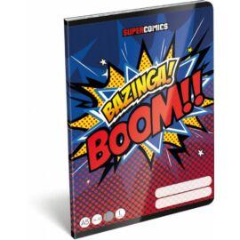 *49597 FÜZET A5  LIZZY21 vonalas 1.oszt. 14-32 Supercomics Bazinga