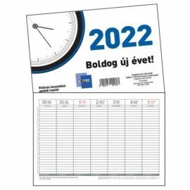 *50648 NAPTÁR asztali  2022  A/4 29,6*21cm   félórás beosztású