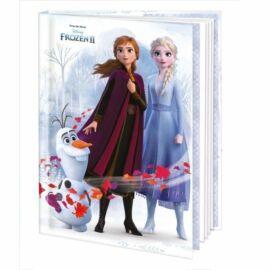 *52469 EMLÉKKÖNYV-NAPLÓ ARGUS Frozen II,Mickey and Minnie 1435- 13,5*17,5cm