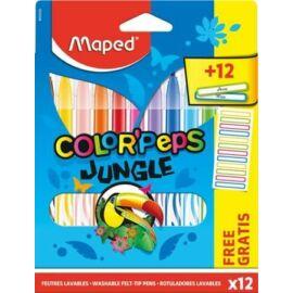 *53510 ROSTIRON 12 MAPED Color Peps Jungle 2.8mm mosható, ajándék névmatrica